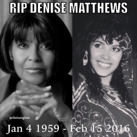 RIP Denise Matthews aka Vanity February 15, 2016