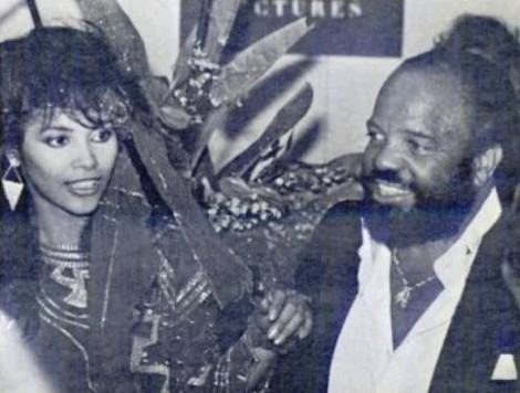 Vanity and Berry Gordy-The Last Dragon Premiere 1985