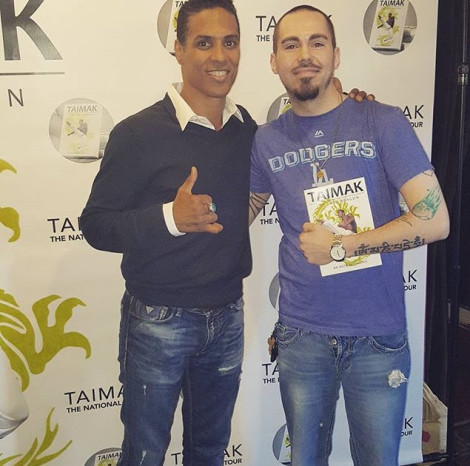 Fan CJ Cee meeting Taimak Olympia Wash Last Dragon Screening April 2016