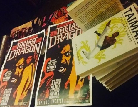 The Last Dragon Poster for Capitol Theater Screening in Olympia Wash