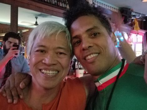 Michael G Chin and Taimak from The Last Dragon in 2016